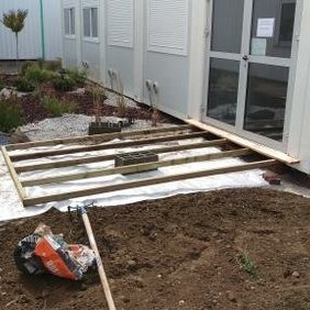 Aménagement de jardin en entreprise